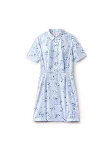 Kısa Kollu Desenli Elbise-Lacoste